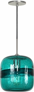 Jesco PD407-TEBN Envisage VI Contemporary Teal / Brushed Nickel Mini Pendant Lamp