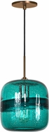Jesco PD407-TEBZ Envisage VI Contemporary Teal / Bronze Mini Hanging Lamp