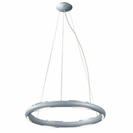 Jesco PD601 Cirque Modern Matte Aluminum Finish 59  Tall Halogen Mini Pendant Lamp