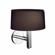Jesco WS618 Leila Modern Aluminum with Chrome Accent Finish 10.25 Wide Halogen Wall Sconce Lighting