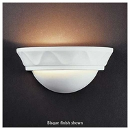 Justice Design 1030 Ambiance Ceramic Small Cyma Wall Sconce w/ Waves