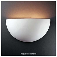 Justice Design 1100 Ambiance Ceramic Really Big Quarter Sphere Wall Sconce