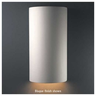 Justice Design 1160 Ambiance Ceramic Really Big Cylinder Closed Top Wall Sconce
