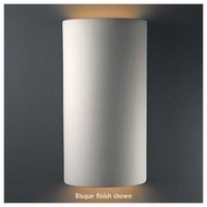 Justice Design 1165 Ambiance Ceramic Really Big Cylinder Open Top Wall Sconce