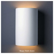 Justice Design 1265 Ambiance Ceramic Large Cylinder Wall Sconce, Open Top