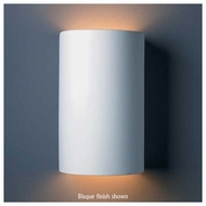 Justice Design CER-1265W Ambiance Open Top Ceramic Large Cylinder Outdoor Wall Sconce