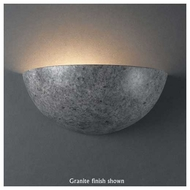 Justice Design 1300 Ambiance Ceramic Small Quarter Sphere Wall Sconce