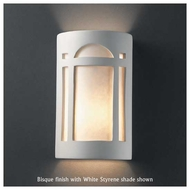 Justice Design 5395 Ambiance Large ADA Arch Window Wall Sconce, Open Top