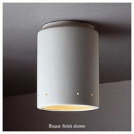 Justice Design 6105 Radiance Flush-Mount Cylinder w/ Perforations Ceiling Lamp