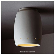 Justice Design 6135 Radiance Flush-Mount Curved Ceiling Lamp w/ Perforations
