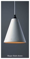 Justice Design 6225 Radiance Cone Pendant w/ Perforations Ceiling Lamp