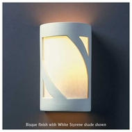 Justice Design 7325 Ambiance Small Open Top Lantern Wall Sconce
