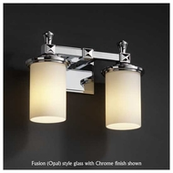 Justice Design 853210 Deco 2-Light Vanity Light with Flat Rim Cylinder Glass