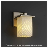 Justice Design 867115 Montana Wall Sconce with Flat Rim Square Glass