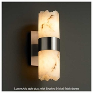 Justice Design 876212 Dakota Up and Down Wall Sconce with Broken Rim Cylinder Glass