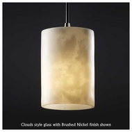 Justice Design 881510 Small Mini Pendant Light with Flat Rim Cylinder Glass