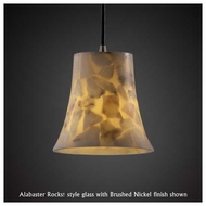 Justice Design 881520 Small Mini Pendant Light with Round Flared Glass
