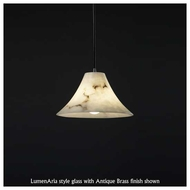 Justice Design 886020 Flared Wide Pendant Light