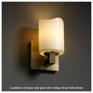 Justice Design 892114 Modular Wall Sconce with Melted Rim Cylinder Glass