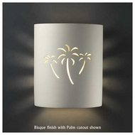 Justice Design 9010 Sun Dagger Small Cylinder Wall Sconce, Open Top