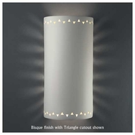 Justice Design 9020 Sun Dagger Extra Large Cylinder Wall Sconce, Open Top