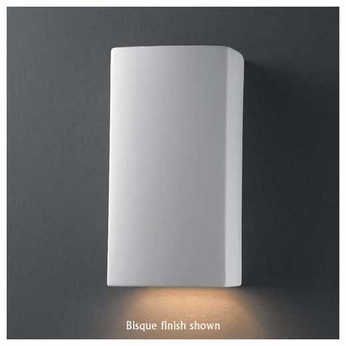 Justice Design 910 Ambiance Small Rectangle Wall Sconce, Closed Top