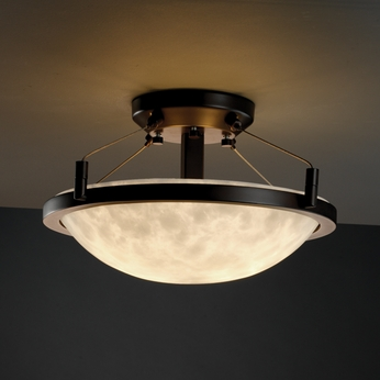 Justice Design 9680 Semi Flush 14 Quot Round Bowl With Ring