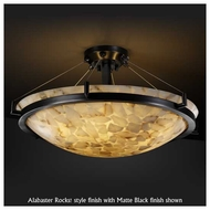 Justice Design 9684 Ring 36  Round Contemporary Semi-Flush Ceiling Light