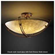 Justice Design 9712 Crossbar 24  Contemporary Semi-Flush Ceiling Light