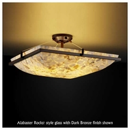 Justice Design 9782 Ring 24  Square Contemporary Semi-Flush Ceiling Light