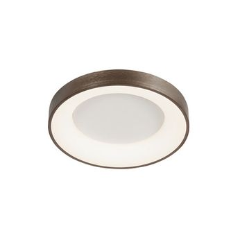 Justice Design ACR-4050-OPAL-LTBZ Acryluxe Sway Contemporary Light Bronze LED 15 Ceiling Lighting