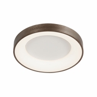 Justice Design ACR-4051-OPAL-LTBZ Acryluxe Sway Contemporary Light Bronze LED 19  Ceiling Light