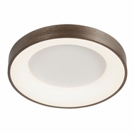 Justice Design ACR-4052-OPAL-LTBZ Acryluxe Sway Modern Light Bronze LED 24  Ceiling Light Fixture
