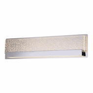 Justice Design ACR-4085-BUBL-CROM Acryluxe Alloy Modern Polished Chrome LED 24 Lighting For Bathroom