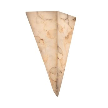 Justice Design ALR-1141 Alabaster Rocks! Modern Triangle Wall Lamp