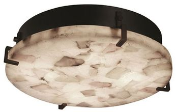 Justice Design ALR-5547 Alabaster Rocks! Clips Contemporary Round Ceiling Lighting