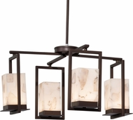 Justice Design ALR-7510W Alabaster Rocks! Laguna Contemporary LED Outdoor Chandelier Light