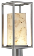 Justice Design ALR-7513W Alabaster Rocks! Laguna Contemporary LED Outdoor Post Lighting