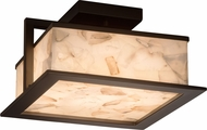 Justice Design ALR-7517W Alabaster Rocks! Laguna Modern LED Exterior Ceiling Lighting