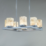 Justice Design ALR-7519W Alabaster Rocks! Laguna Contemporary Outdoor Chandelier Light