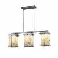 Justice Design ALR-7540W Alabaster Rocks! Pacific Modern LED Exterior Island Lighting