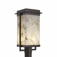 Justice Design ALR-7543W Alabaster Rocks! Pacific Contemporary LED Exterior Lamp Post Light