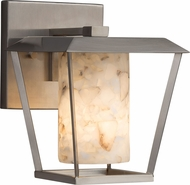Justice Design ALR-7551W-10 Alabaster Rocks! Patina Contemporary Outdoor Small Wall Lighting