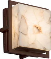 Justice Design ALR-7561W Alabaster Rocks! Avalon Contemporary LED Outdoor Square Light Sconce