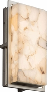 Justice Design ALR-7562W Alabaster Rocks! Avalon Modern LED Exterior Small Lighting Sconce