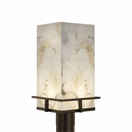 Justice Design ALR-7563W Alabaster Rocks! Avalon Modern LED Outdoor Post Light