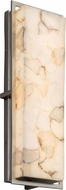 Justice Design ALR-7564W Alabaster Rocks! Avalon Contemporary LED Outdoor Large Lamp Sconce