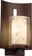 Justice Design ALR-7591W-10 Alabaster Rocks! Embark Modern Exterior Wall Sconce Lighting