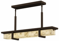 Justice Design ALR-7610W-DBRZ Alabaster Rocks! Monolith Modern Dark Bronze LED Exterior Kitchen Island Lighting