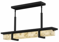 Justice Design ALR-7610W-MBLK Alabaster Rocks! Monolith Modern Matte Black LED Outdoor Kitchen Island Light
